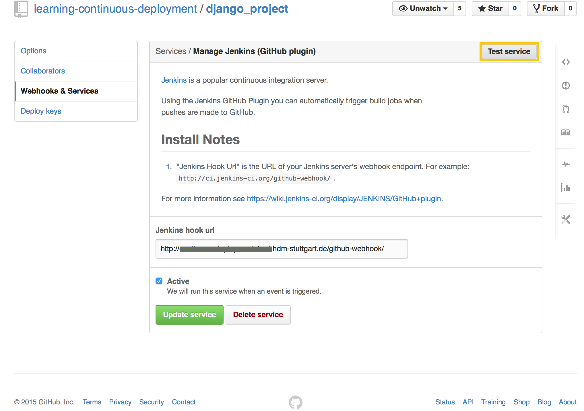 How to trigger a Jenkins build process by a GitHub push